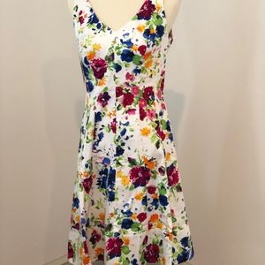 NWT Lauren RL Floral dress, Size 8